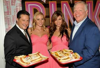 The opening of Pink's Hot Dogs at Planet Hollywood.