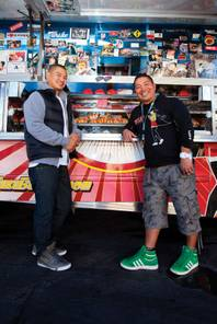 "Fukuburger's Colin Fukunaga and Robert ""Mags"" Magsalin"