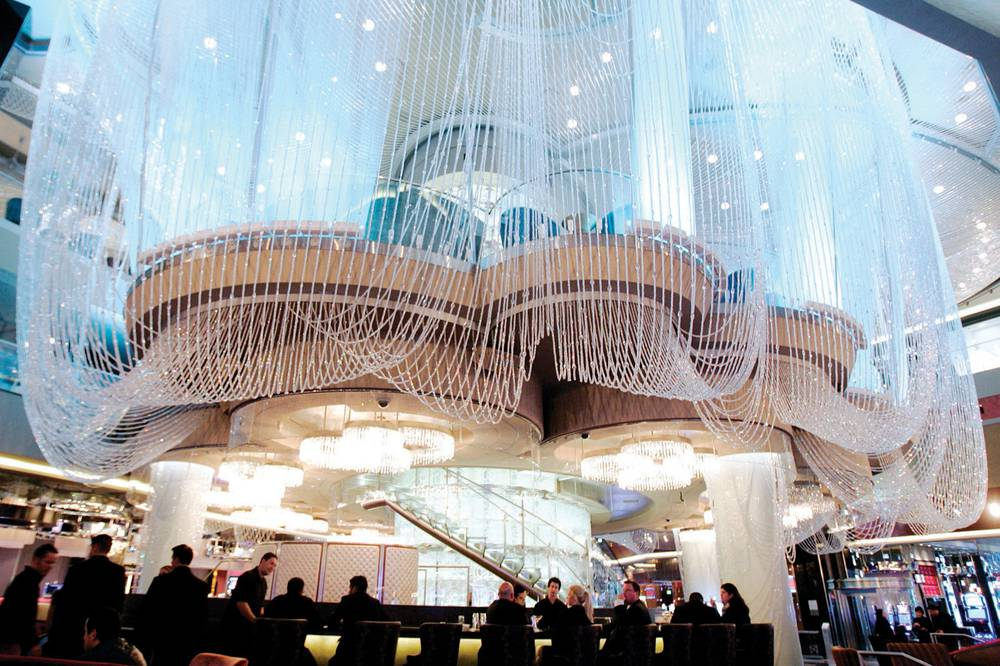 Best hotel bar the chandelier at cosmopolitan las vegas weekly the three level chandelier bar welcomes guests from the strip entrance aloadofball Gallery