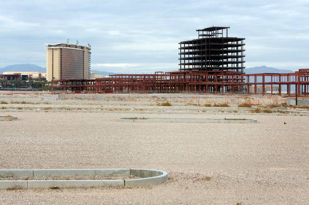 The Shops at Summerlin Center stalled mid-construction. Now all that remains is a steel shell.