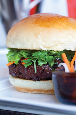 Bahn mi burger at Bachi Burger