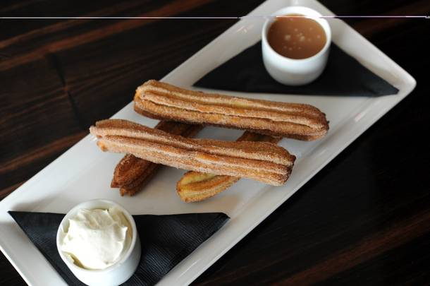 Eva Longoria's churros, as served at Beso at Crystals.