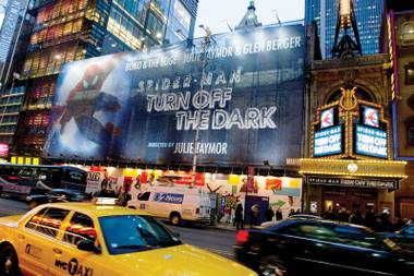 Safer without spidey: The Broadway show has had a rash of accidents.