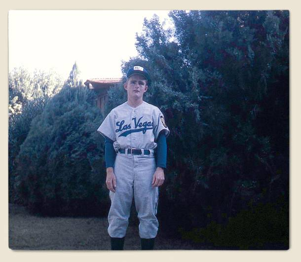 Garre Mathis in 1956 in his Western High School baseball uniform