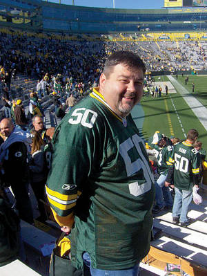 A die-hard fan, Kampa will certainly be rooting the Packers on this Sunday.