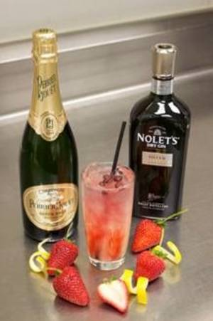 The Strawberry 75, available at N9NE Steakhouse.