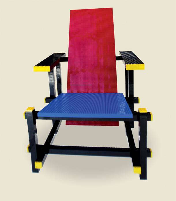 Yes, this chair is made of Legos.