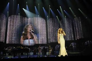 Celine Dion's opening night at The Colosseum at Caesars Palace on March 15, 2011.