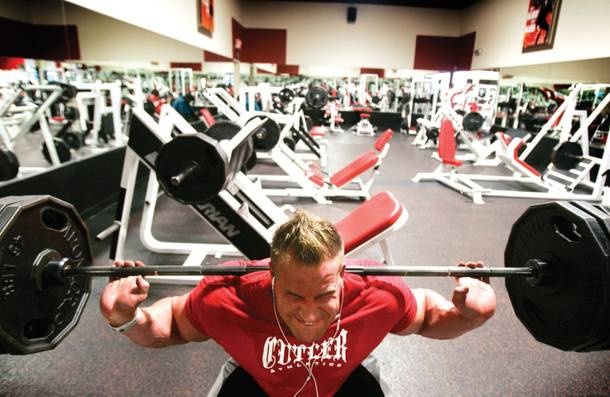 Las Vegas bodybuilder and Mr. Olympia Jay Cutler works out at Las Vegas Athletic Club.