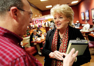 She's currently projected in polls as winning the Las Vegas mayoral race, but Carolyn Goodman is taking nothing for granted, hitting the campaign trail hard.