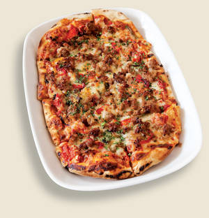 Presidio's sausage and peppers flatbread.