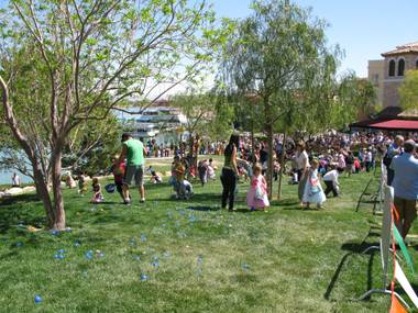 Lake Las Vegas is one of the many Easter venues featuring an egg hunt and brunch.