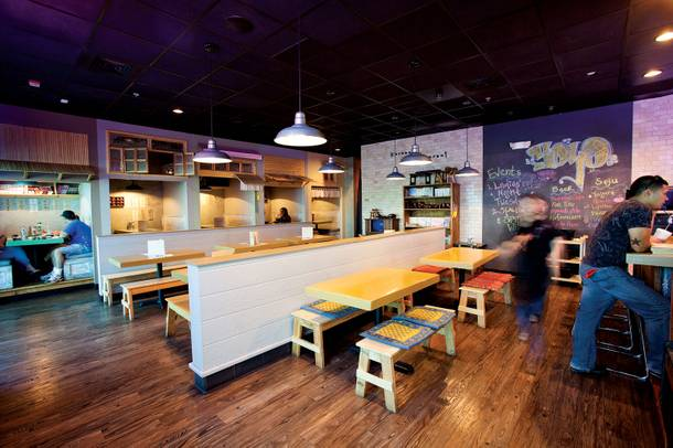 The trendy, modern Korean Soyo Barstaurant on Rainbow Blvd.