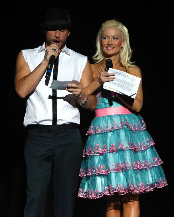 Josh Strickland and Holly Madison at Broadway Bares: Las Vegas at Planet Hollywood, April 24, 2011.
