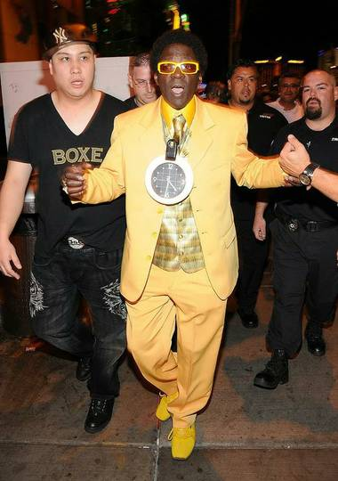 Flavor Flav (pictured at the Hard Rock Cafe on the Strip) was recently arrested for traffic violations right here in the city.