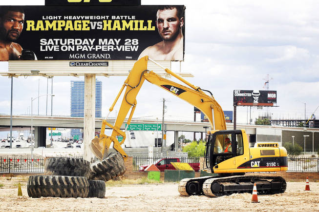 Dig This Heavy Equipment Playground in Las Vegas Tuesday, May 10, 2011.