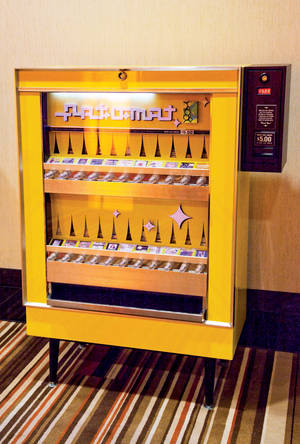 An Art-O-Mat machine at Cosmopolitan