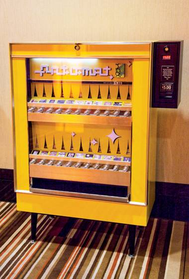 Slip $5 into these old cigarette machines to get started on your art collection