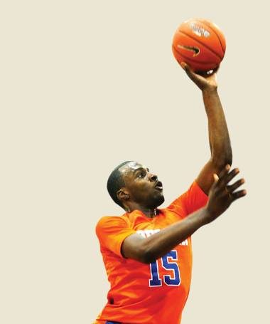 Bishop Gorman High's Shabazz Muhammad started his jump a step inside the free throw line, easily elevating over a defender for a monstrous one-handed dunk.