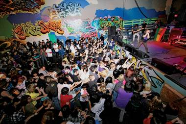 Now closed, Area 702 was one of the last all-ages venues in the city.