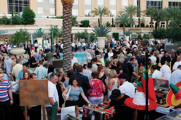 Foodies gathered at the Palazzo pool deck last week to attend the Epicurean Affair, just one of many spring food festivals in the city.