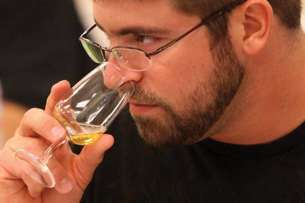While tasting the many ciders offered, class participants were asked to share what their tongues and noses were picking up with each individual variety.