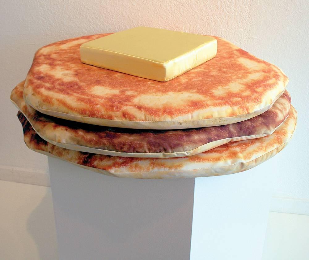 Uncategorized Pancake Pillow pancake art and butter pad pillows las vegas weekly image
