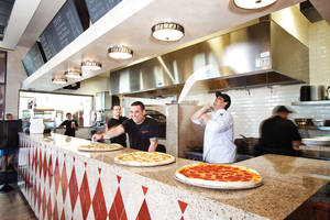 Pies fly at Radio City Pizzeria in Summerlin.