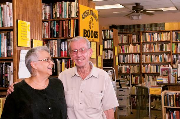 Lou and Myrna Donato, owners of Amber Unicorn Books can read, and they sell books to other people who can.