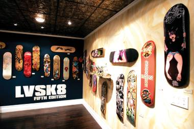 Skateboarder or no, it's hard to not be impressed with the level of artwork on display at LVSK8 5 at Empire Gallery.