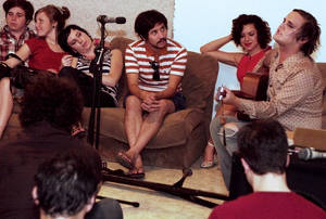 McKenzie, playing for friends at his farewell party.