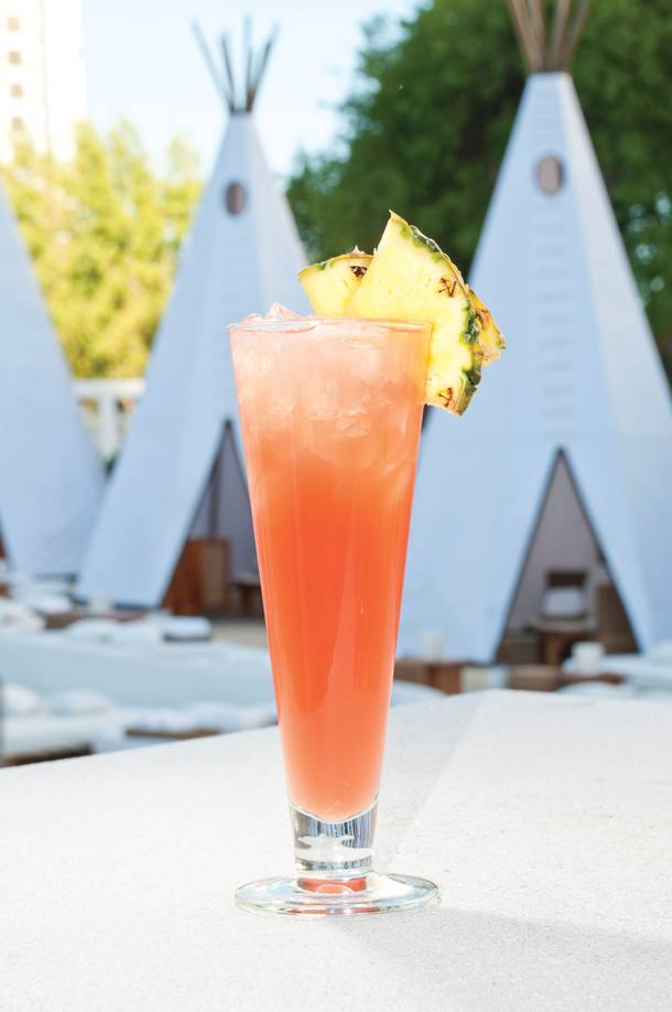 The Tropicana Swizzle at Nikki Beach.