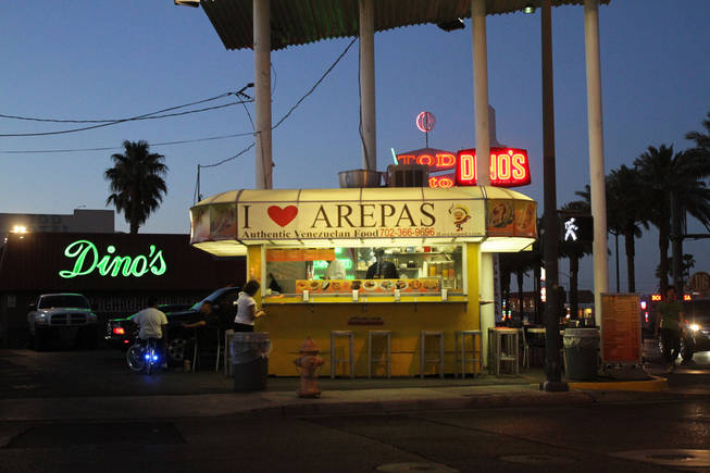 More a kiosk than a full restaurant, I Heart Arepas serves up the Venezuelan specialties made by former Valentino cook Felix Arellano.