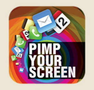 <em>Pimp your Screen</em> should have thought about how App icons mess with background color.