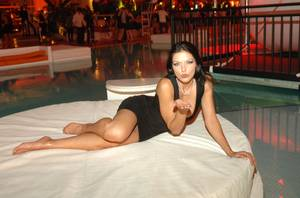 Adrianne Curry Parties at Wynn and Encore