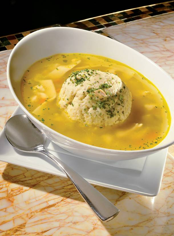 Don't call the doctor. All we need is a bowl of chef Morse's matzoh ball goodness.