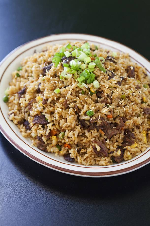 The bulgogi fried rice at KoMex Express.