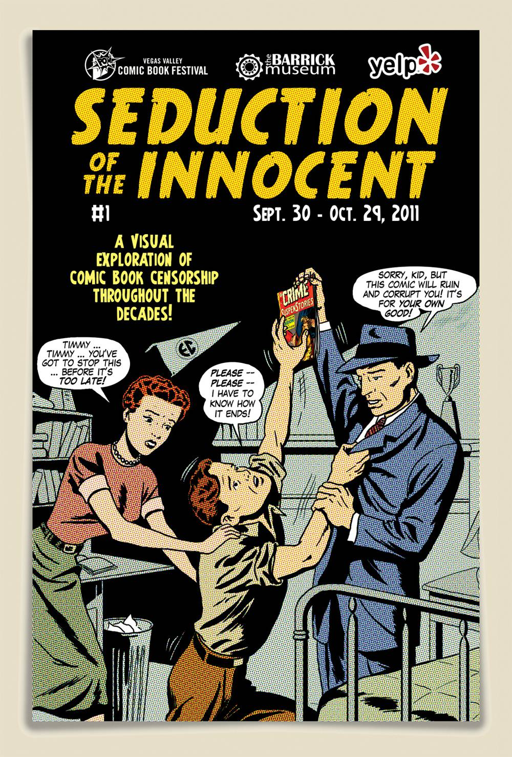 Comic Book Cover Artist Wanted : Banned books barrick exhibit details the life of comic