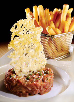 Central's steak tartare, just one sign this isn't your average 24-hour casino cafe.