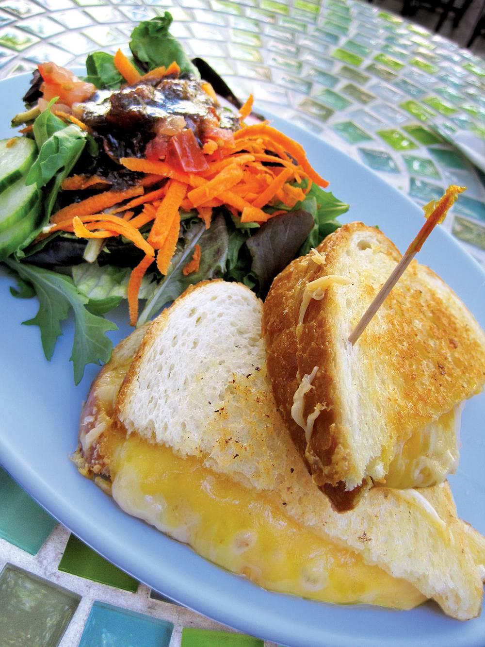 gruyere parmesan and cheddar make the cheese sandwich at rachels kitchen a rich delight - Rachels Kitchen