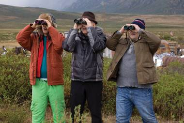 Wilson, Martin and Black bring their comedic talents to the art of … birdwatching.