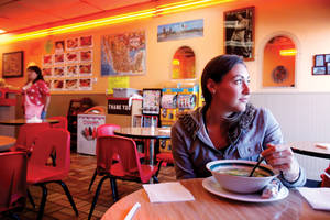 Have soup, will chill at Los Antojos.