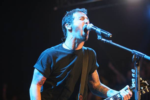 Sully Erna of Godsmack performs during the second day of the Rockstar 48 Hours Festival at the Luxor Festival Grounds on Sunday, Oct. 16, 2011.