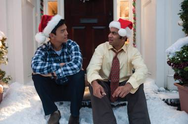 Harold (left) and Kumar. We're shocked to see that Kumar is holding a lighter.