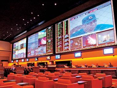 The sports book at Red Rock Resort.
