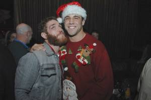 A gift from the archives: Kyle Kingsbury and Tom Lawlor in abundant facial hair and one seriously fabulous sweater.