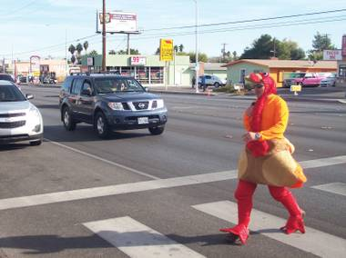 The Thanksgiving-inspired operation reminded drivers to stop for pedestrians.