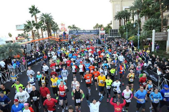 The 2011 Zappos.com Las Vegas Rock 'n' Roll Marathon on Dec. 4, 2011.