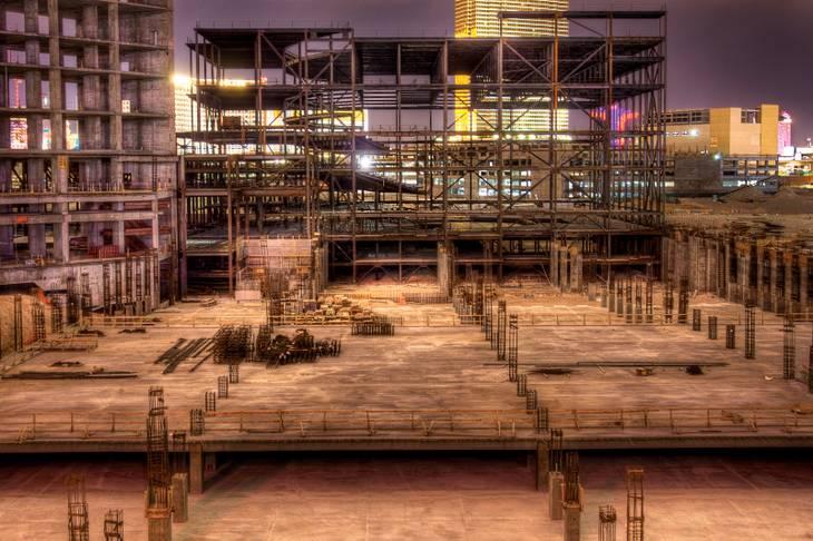 Abandoned construction projects still dot the Las Vegas