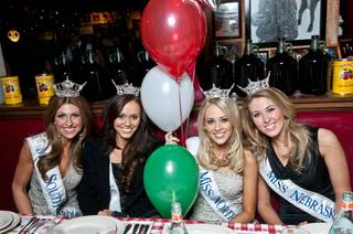 The 2012 Miss America Pageant contestants at Buca di Beppo on Jan. 7, 2012.